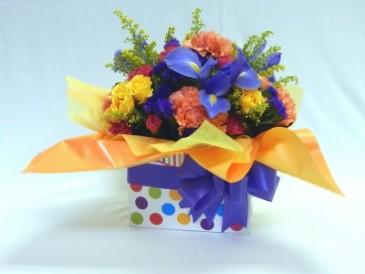 Birthday Box Flower Arrangement