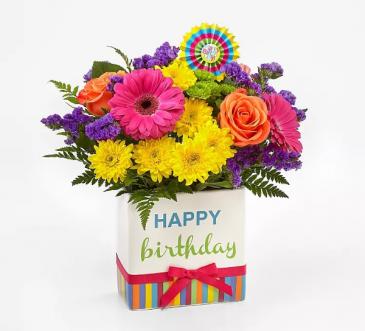 Birthday Brights Birthday Ceramic Arrangement