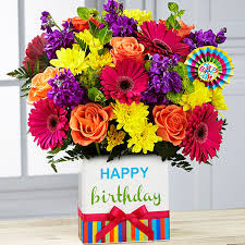 Birthday Brights Bouquet Birthday Arrangement in Elyria, OH | PUFFER'S FLORAL SHOPPE, INC.