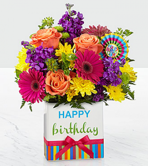 Birthday BrightsTM Bouquet By FTD In Valley City OH