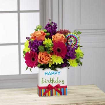 Birthday Brights™ by FTD Vased Arrangement