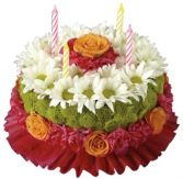 BIRTHDAY BRILLIANCE FLOWER CAKE