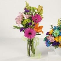 Birthday Budvase EV86-11 Fresh Vased Arrangement