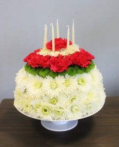 BIRTHDAY CAKE ARRANGEMENT in Edison NJ EE FLOWERS