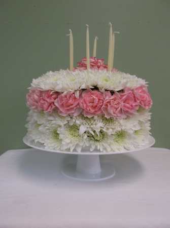 Remarkable Birthday Cake Arrangement In Springfield Vt Woodbury Florist Funny Birthday Cards Online Barepcheapnameinfo