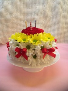 Groovy Birthday Cake Arrangement In Cloquet Mn Skuteviks Floral Funny Birthday Cards Online Chimdamsfinfo