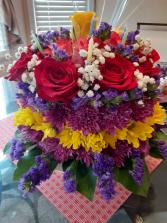 birthday cake birthday cake or celebrating with flowers