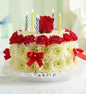 Birthday Cake Bouquet Flowers