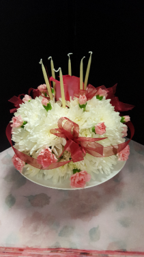 Happy Birthday Cake Fresh flowers
