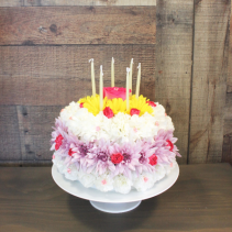 FLOWER BIRTHDAY CAKE WISHES ***LOCAL DELIVERY ONLY***