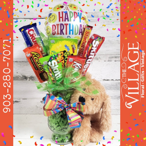 Birthday Candy Arrangement  in Texarkana, TX | The Village Floral & Gifts
