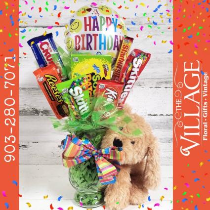 Birthday Candy Arrangement