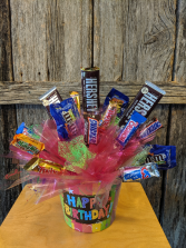 Birthday Candy Bouquet Candy box