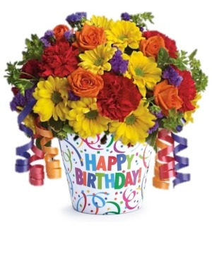Birthday Celebration Floral Bouquet in Whitesboro, NY | KOWALSKI FLOWERS INC.