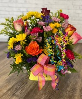 Birthday celebration of Color Basket Arrangement