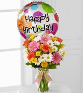 BIRTHDAY CHEER!! Seasonal Flowers & Mylar BIRTHDAY