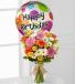 BIRTHDAY CHEER!! Seasonal Flowers & Mylar BIRTHDAY