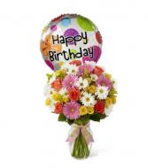 Birthday Cheer Bouquet with Mylar