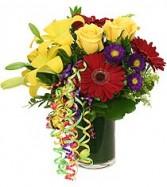 Birthday Confetti Vase/Cut Bouquet