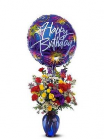 Birthday Fireworks Arrangement