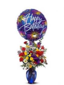 Birthday Fireworks Arrangement