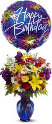 Birthday Fireworks Bouquet Flower arrangement