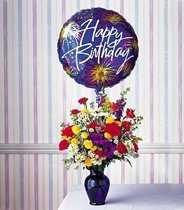 Birthday Fireworks Vase