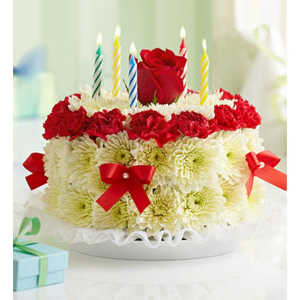 Birthday Flower Cake  in Valley City, OH | HILL HAVEN FLORIST & GREENHOUSE