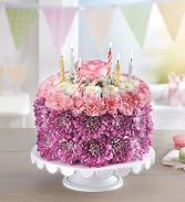 Birthday Flower Cake - Purple & Pink