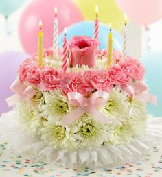 BIRTHDAY FLOWER CAKE in Germantown, MD - GENE'S FLORIST & GIFT BASKETS