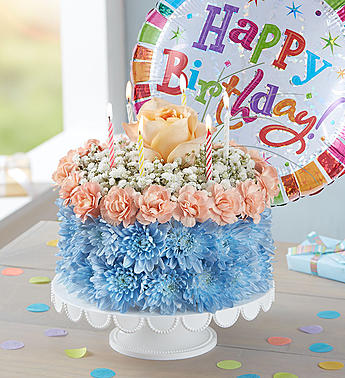 Fabulous Birthday Flower Cake Coastal Arrangement In Croton On Hudson Birthday Cards Printable Benkemecafe Filternl