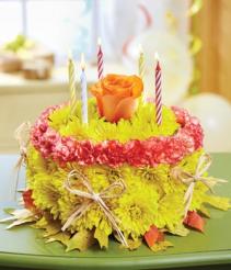 Birthday Flower Cake® - Autumn Arrangement