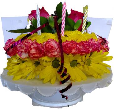 Birthday Flower Cake flower cake: 1/2 size