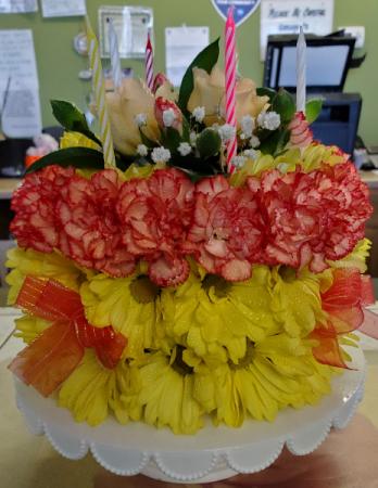 Birthday Flower Cake flower cake