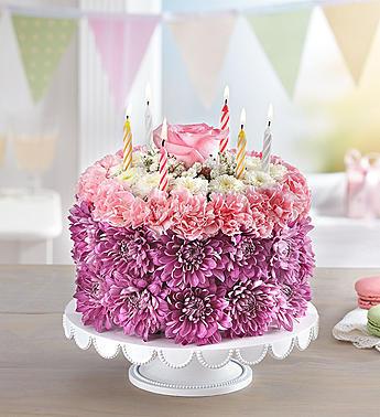 Birthday Flower Cake Fresh Flower Cake