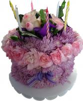 Birthday Flower Cake- Pastel flower cake
