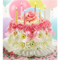 Birthday Flower Cake® - Pink Arrangement