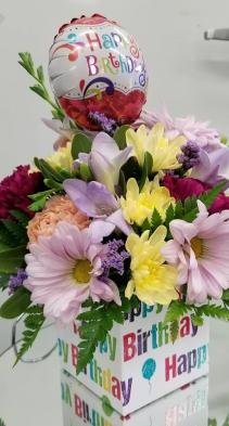 Birthday in A Box Arrangement