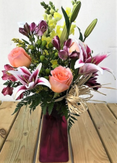 Birthday Love Vase