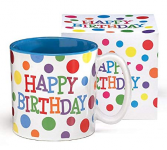 Birthday Polka Dot Mug  in Clinton, Arkansas | Main Street Florist & Gifts