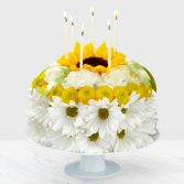 Birthday Smiles Flower Cake