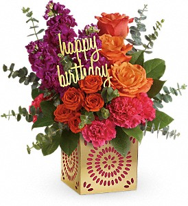 BIRTHDAY SPARKLE (out of container till March can make in glass cube) in Fort Lauderdale, FL | ENCHANTMENT FLORIST
