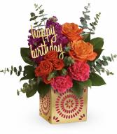Birthday Sparkle All-Around Floral Arrangement