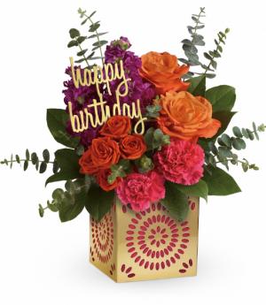 Birthday Sparkle All-Around Floral Arrangement in Winnipeg, MB | KINGS FLORIST LTD