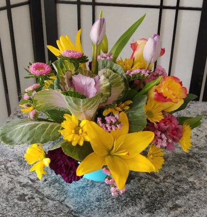 Birthday Sunrise Spring Arrangement