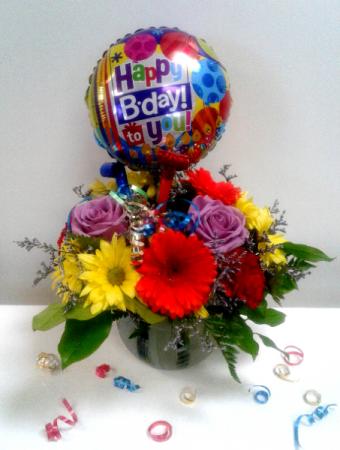 Birthday Surprise! Fresh Flowers
