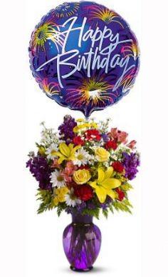 Birthday Surprise Includes Mylar Balloon