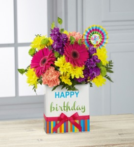 Birthday Vase  in Kitchener, ON | KITCHENER ONTARIO FLORIST