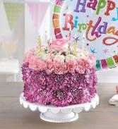 BIRTHDAY WHISHES FLOWER CAKE  BIRTHDAY