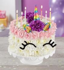 BIRTHDAY WISHES FLOWER CAKE Fresh Arrangement